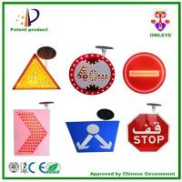 China Triangle/square/rectangle/circular led road warning solar power electronic traffic signs on sale