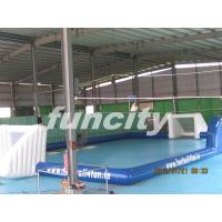 inflatable giant football playgrounds with customized logo for commercial use Manufactures