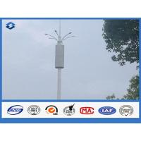 Baseplate ASTM A 633 GRE Communication Pole 6 / 8 side 20 - 56 meters high Manufactures