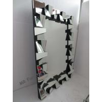 Quality Framless 3D Wall Mirror 78 * 104cm Size Faceted Mirror MDF Back Material for sale