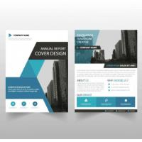 Ultra Flat Corporate Business Brochure , Recycled Corporate Bifold Brochure Manufactures