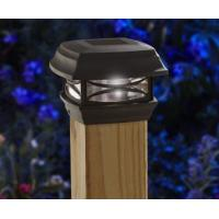 Black Finish Solar Post Cap Lamp Weather Resistant For Outdoor Installation Manufactures