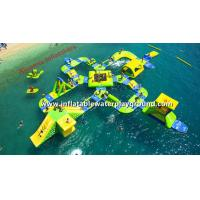 Resort Floating Inflatable Amusement Park 0.9mm PVC Tarpaulin For 65 People Manufactures