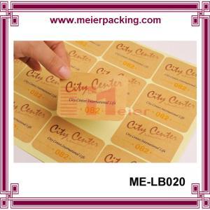China Craft Paper Sticker/Kraft Paper Label Sticker/Custom Rectangular Paper Letter Sticker  ME-LB020 on sale