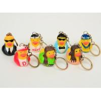 OEM Singer / Swan Character Mini Duck Keychains Toy BPA Free Vinyl Material Kechain Duck toy Manufactures