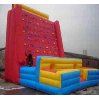 Giant Red / Blue PVC Outdoor Inflatable Sports Games Rock Climbing Wall Manufactures