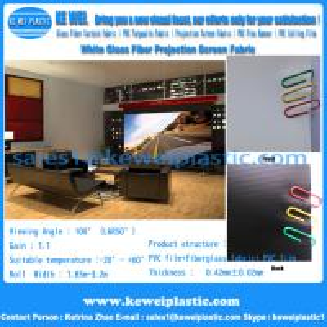 China Good Visual Effect 3D Metal fiberglass projection screen fabric on sale