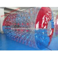 Big Water Sports Inflatable Water Roller / Water Rolling Ball With Colorful Entrance Manufactures