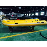 Handcrafted 6 Person 1.2mm PVC Inflatable RIB Boats Yellow CE / ISO Manufactures