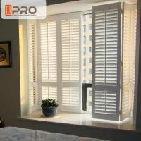 Residential buildings environment-friendly white color aluminum alloy swing plantation shutters Manufactures
