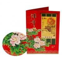 Quality Custom New Year,Christmas gift Matte lamination/UV coating Paper Greetings Card for sale