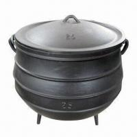 Cast Iron Potjie Pot with 3 Legs, Used for Slow Cooking of Stews, Available in Different Sizes Manufactures