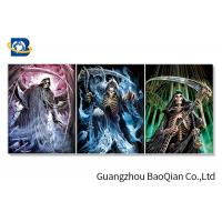 Creative Designer Skull 3D Picture For Wall Decor , Flipped Changing Lenticular Poster Manufactures