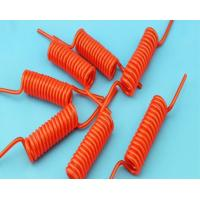 Bright Color Electrical Curly Extension Cord Coiled Power Cable With Copper Conductor Manufactures