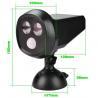 Outside  Led Black solar motion sensor security light Warm White Manufactures