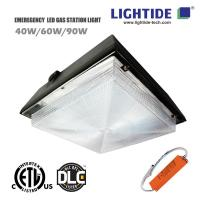 DLC Premium LED Gas Station Light w/Emergency Back, 90W, 100-277VAC, 90 min Emergency Time Manufactures