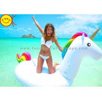 Summer Swimming Inflatable Water Park Games 108 Inch Rideable Unicorn Pool Float Manufactures