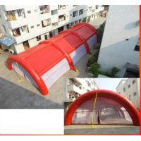Red Color Inflatabe Event Tent With Tubes Manufactures
