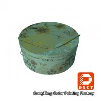 Hot Foil Stamping Sturdy Round Decorative Cardboard Boxes With Lids String Style Manufactures