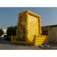 Funny Giant Inflatable Sports Games / Climbing Wall For Amusement Park Equipment Manufactures