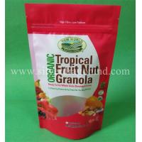 Stand up pouch with zipper and tear notch for food packing Manufactures