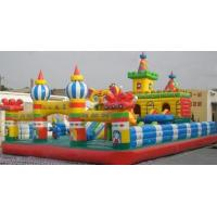 Red Kids Inflatable Sports Games Inflatable Funny Castles Fireproof Manufactures