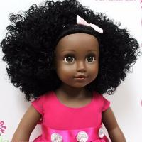 Buy cheap 18 Inches  vinyl African American dolls with rooted  hairs from wholesalers