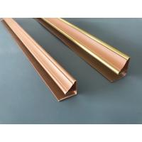 Durable Wood Colored Pvc Corner Profile , Plastic Extrusion Profiles 130 G/M Manufactures