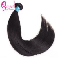 China Double Drawn Weft Brazilian Virgin Hair Extensions Straight Hair Style 1 Piece on sale
