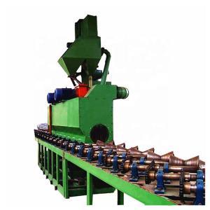 7000m3/H 1.0m/Min Steel Pipe Shot Blasting Machine Manufactures