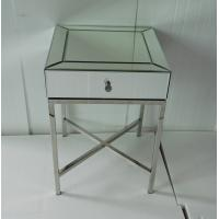 Quality 45 * 45 * 65CM Mirror Tables Furniture Silver Color Steel Chrome Finish for sale