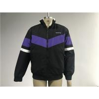 Men ' S Black Polyester bomber Jacket With Purple Insertion And Milk Sherpa Collar Manufactures