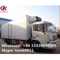 15tons refrigerator van truck with US Brand Carrier freezer for sale, 10-15tons cold room truck for frozen seafood Manufactures
