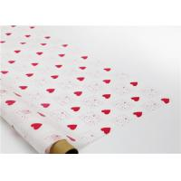 Heart Shapes Custom Printed Wax Paper , Greaseproof Decorative Wax Paper Sheets Manufactures