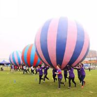 Racing Inflatable Challenging Course Competitive Fun Run With Holding a Big Inflatable Ball Together Manufactures