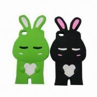 Shy Rabbit Silicone Case for iPhone 4/4S in Stock, Various Colors are Available Manufactures