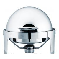 6L Round Roll Chafing Dish , Stainless Steel Roll Top Cookware Manufactures