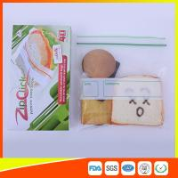 Food Stroage Plastic Sandwich Bags LDPE / Zip Up Storage Bags For Supermarket Manufactures
