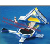Inflatable rainbow water slide, inflatable water part slide,Inflatable slide Game Manufactures
