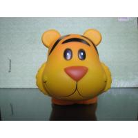 Cute Plastic Tiger Money Kids Piggy Banks 13.5cm Length X 10cm Height X 10cm Width Manufactures
