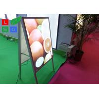 Double Sided LED Poster Display A Shaped With Aluminium Frame Profile Manufactures
