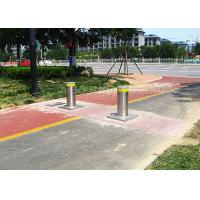 Steel Automatic Lit Electric Bollards Barrier Remote Control Led Light Manufactures