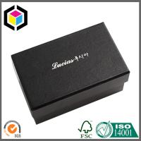 Fancy Black Color White Logo Gift Paper Chipboard Box; Jewelry Ring Paper Box Manufactures