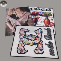 Sew On Embroidery Blank Patches , Customized 3d Embroidery Patches Manufactures