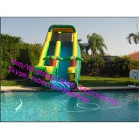 Outdoor Inflatable Bounce Houses Water Slides for pools Manufactures