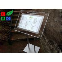Portable LED Crystal Light Box Customized Design For Menu Display And Guide Sign Manufactures