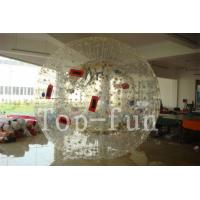 Transparent PVC Floating Inflatable Zorb Ball with 1 / 2 Entrance For Grassland / Playground Manufactures