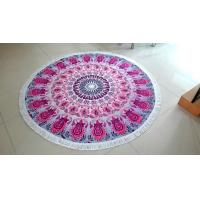 Buy cheap 100% Cotton Material Mandala Round Towels from wholesalers