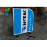 Quality Aluminum Frame LED Shop Display Branding Sign Double Sided For Clothes Shop for sale