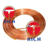 C11000 Capillary Copper Pipe Coil Non - Alloy For Air Condition / Refrigerator Manufactures